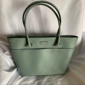 Medium Kate Spade Light Blue Leather Tote Bag